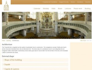 English website of the Frauenkirche